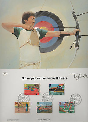 1986 Sport & Games - First Day Of Issue Lithograph
