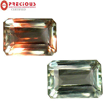 0.79 ct PGTL Certified (6 x 4 mm) Change From  to Purplish Grey Alexandrite