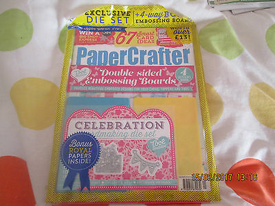 PAPERCRAFTER ISSUE 95 includes EMBOSSING BOARDS & BUNTING DIE - NEW & SEALED