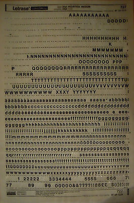 LETRASET Rub On Letter Transfers HELVETICA MEDIUM 20pt (#727) 5.7mm used