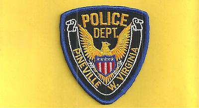 West Virginia- Very Old Twill Backed- Pineville Police Dept-Less Than 700 People