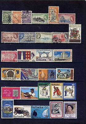 BARBADOS 51 DIFFERENT BETWEEN 1920s & 2000--USED F-VF OR BETTER