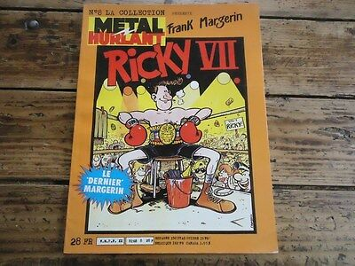Collection N°8 Metal Hurlant Frank Margerin Ricky Vii E.o 1984 Couverture Souple