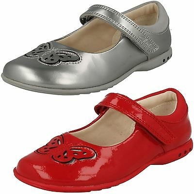 Girls Clarks Trixi Wish Hook & Loop Infant Casual Shoes Mary Jane Butterfly Size