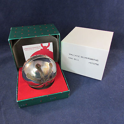 1986 Annual Wallace Silverplate Sleigh Bell Ornament 16th
