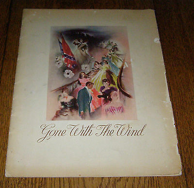 GONE WITH THE WIND Original 1939 Movie Program With Hattie McDaniel on Back Rare