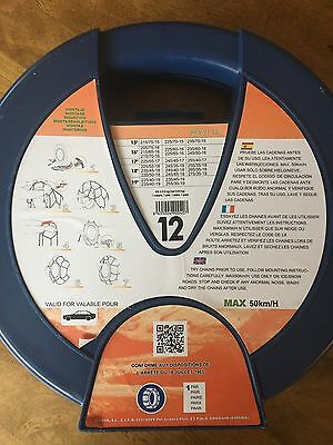 Ideal 9mm Snow Chains - Size 12 Brand new