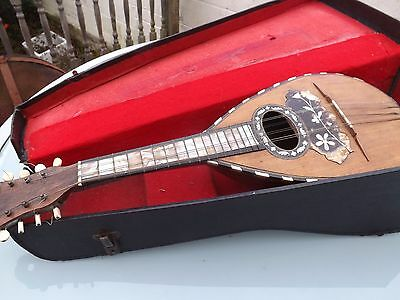 Antique Pietro Raffini Bowl Back Mandolin - Highly Decorated