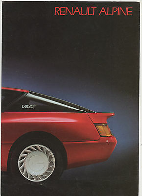 """ Renault  Alpine ""  Original French  Sales  Brochure ."