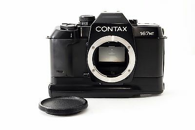 Contax 167 MT 35mm SLR Film Camera w/Battery Pack [Excellent++] From Japan