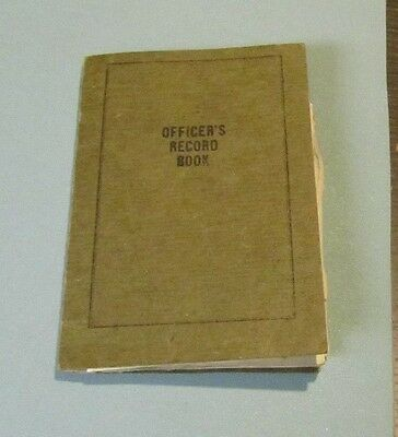 WWI US Army Lieutenant Officer's Record Book + Registration Card + Documents