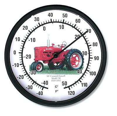 "New McCormick Farmall Tractor Wall Thermometer 10"" Round Years 1939-1952 Model M"