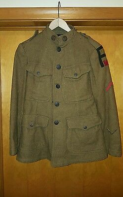 WW1US Army Uniform jacket with 1st army engine patch, shirt, Pants, belt, hat