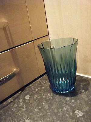 Bagley glass Turquoise Vase