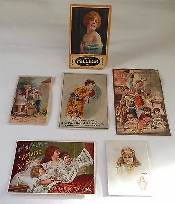 6 Lot Victorian Advertising Trade Cards Ivorine Strauss Imperial Granum Coffee