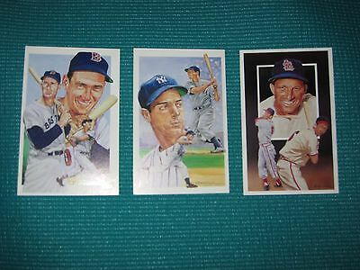 Ted Williams, Joe DiMaggio, Stan Musial postcard lot