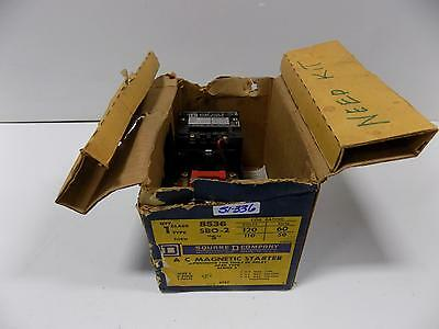 Square D A C Magnetic Starter  8536 Sbo-2 Size 0 Series A Nib