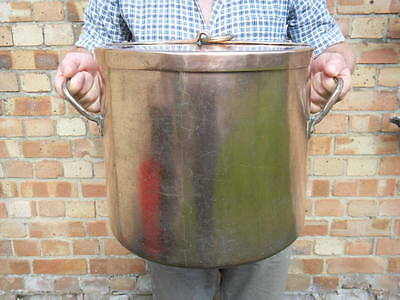 Giant French Copper Marmite 19Kg Cocotte Stockpot Pot Georgian Not Dehillerin