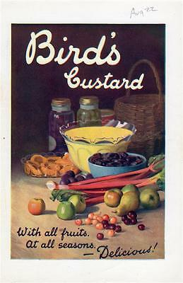 """Original 1922 Magazine Ad For Bird's Custard - """"with All The Fruits"""""""