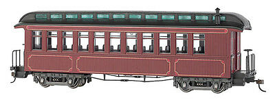 Bachmann 26201 On30 Painted & Unlettered Wood Coach/Observation Car