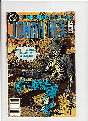 Jonah Hex #92 vf+ final issue Canadian Newsstand Price Variant