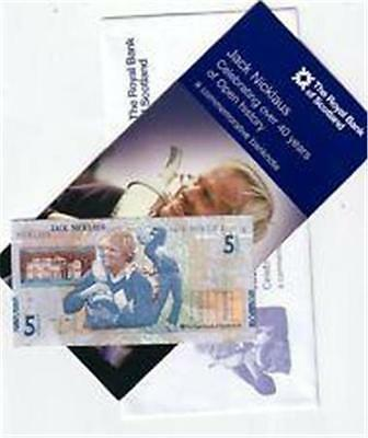 Jack Nicklaus £5 Note With Wallet & Envelope