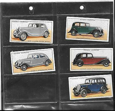 Player's (Overseas Issue) - Motor Cars, A Series - 1936 - 5 Cards