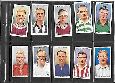 Will's - Association Footballers (No Frame)  - 1935  - 10 Cards
