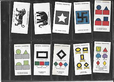 Player's - Army Corps & Divisional Signs, 2Nd Ser.- 1925  - 10 Cards - High Nos.