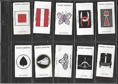 Player's - Army Corps & Divisional Signs, 2Nd Ser. - 1925  - 10 Cards - Low Nos.