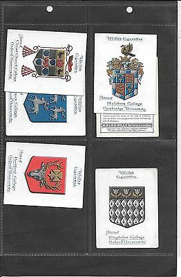 Will's - Arms Of Oxford & Cambridge Universities- 1922 - 6 Large Cards