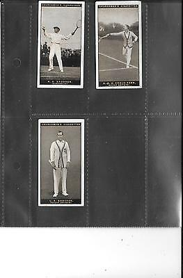 Churchman - Lawn Tennis - 1928 - 3 Good Cards