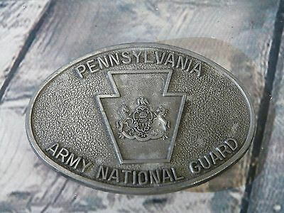 Vintage Pennsylvania Army National Guard Belt Buckle Limited Edition