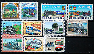 Trains, Unmounted Mint Selection From Austria, Locomotives Etc.