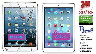 iPad Air 2 White LCD Screen Glass Replacement - 24 HOUR REPAIR SERVICE