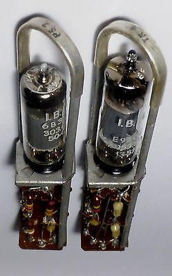2 x Plugs IBM Computer 604 year 1948 Plug-in's - very rare PS & TR N° 9  -