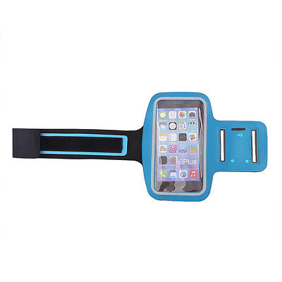 Gym Running Sports Armband Case Cover Holder Pouch For Samsung Galaxy S7 Blue