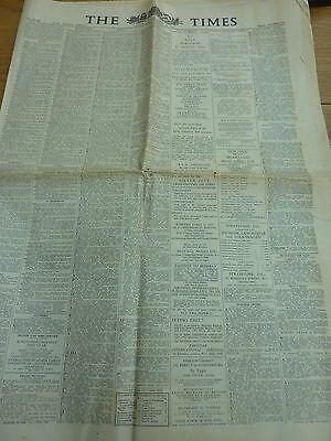 1957 April 30 The Times Newspaper Complete 18 Page