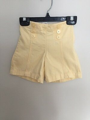 EUC Janie & Jack Yellow Flare Knickers Shorts Girls12 - 18 months