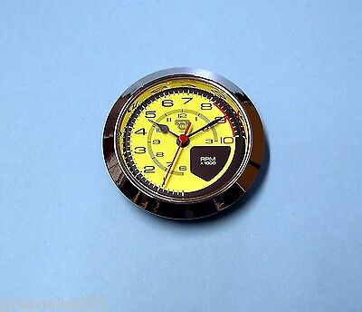 65mm BEZEL Quartz Clock insert movement Italian Super Car style yellow dial