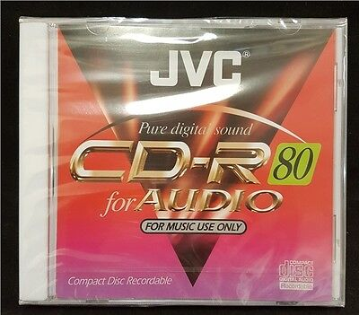 2 x JVC Music CD-R Audio Blank CDR 80 Minute music Compact Discs Recordable