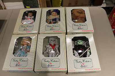 WIZARD OF OZ 1992 Effanbee's Storybook Collection 6 Dolls+Boxes