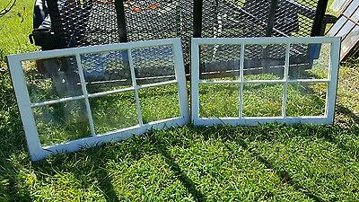 VINTAGE SASH ANTIQUE WOOD WINDOW UNIQUE FRAME PINTEREST WEDDING  32x20 SET OF 2