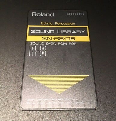 ROLAND R8 Cartridge Card Ethnic Percussion