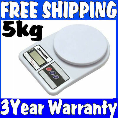 5Kg Digital Weighing Weight Kitchen Parcel Packet Post Scales 3 Year Uk Warranty