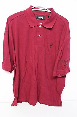 Ashworth Polo Shirt - Red - Men's Size Large