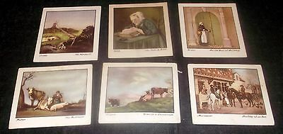 6 Godfrey Phillips Cigarette Cards Old Masters