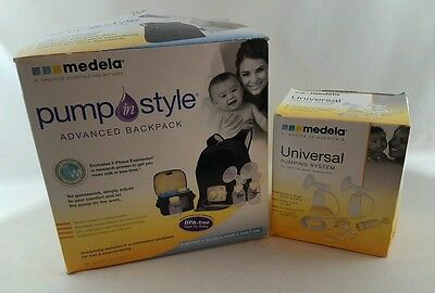 Medela Pump In Style Advanced Double Breast Pump Backpack Electric W Accessories