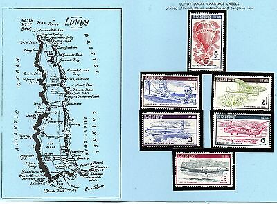 Lundy Is !954 Airmail definitives  without dates MNH set in blue folder