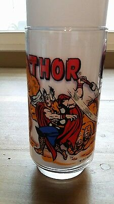 1977 The Mighty Thor Marvel Comics Super Hero Drinking Glass 7-11 Vintage